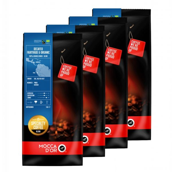 Koffiebonen Mocca d'Or Decafeo Fairtrade Organic