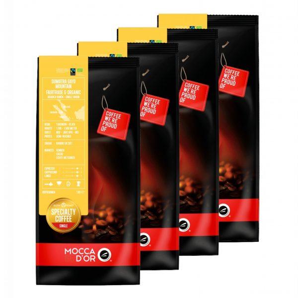 Koffiebonen Mocca d'Or Sumatra Gayo Mountain Fairtrade