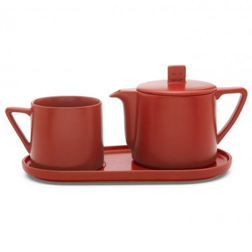 Tea-for-one set Lund – rood