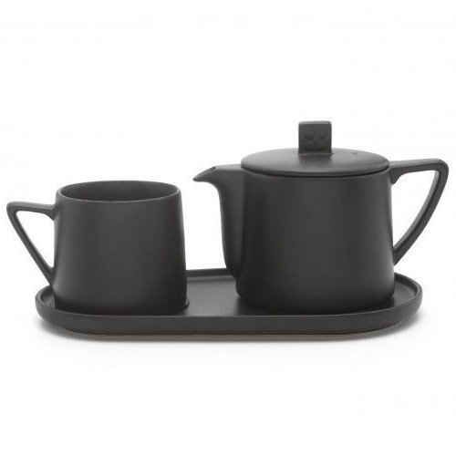 Tea-for-one set Lund – zwart