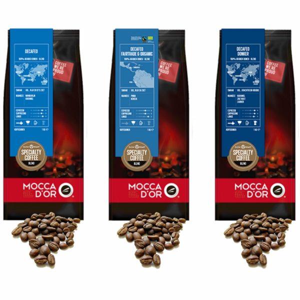 Decafe koffiebonen proefpakket - Mocca dOr