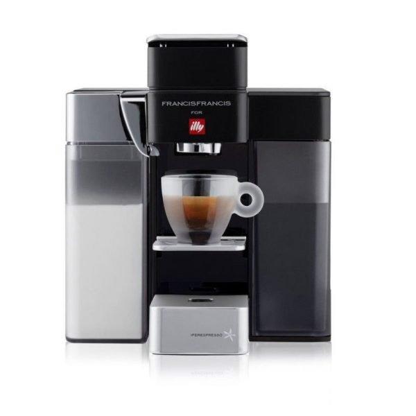 illy Francis Francis Y5 Milk espressomachine zwart