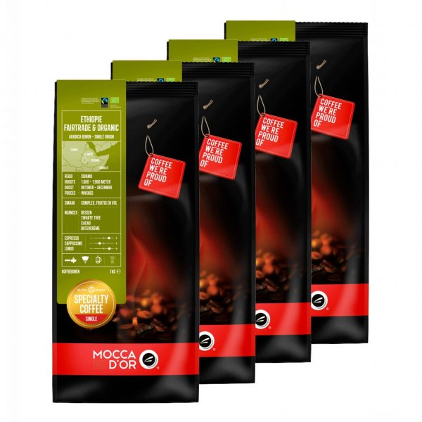 Koffiebonen Mocca d'Or Ethiopie Fairtrade Organic