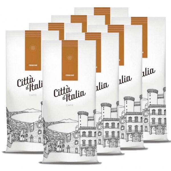 Koffiebonen Citta d'Italia crema Bar 8 kg volumekorting